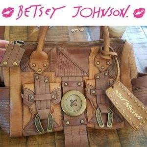 Betsey Johnson Brown Western Purse